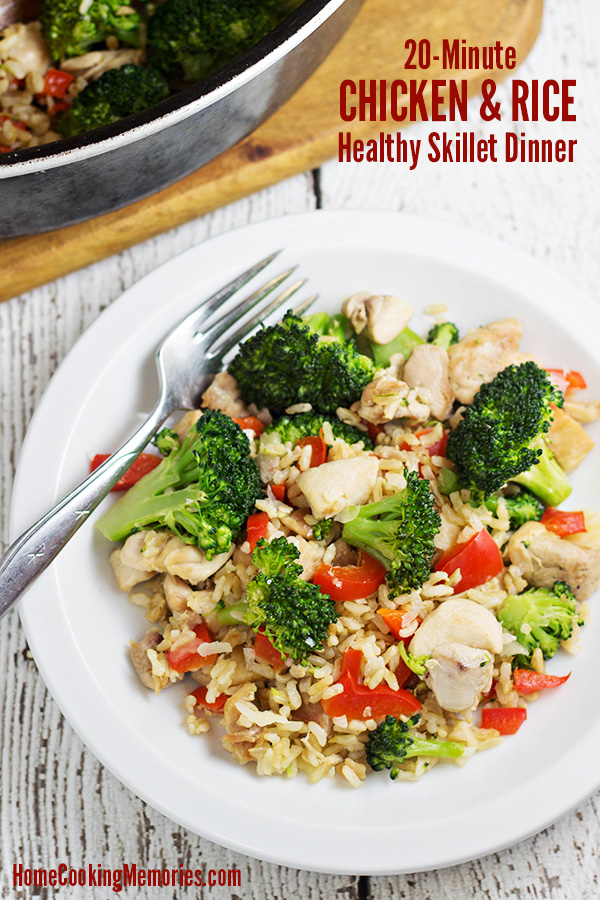 20 Minute Chicken And Rice Skillet Dinner Recipe