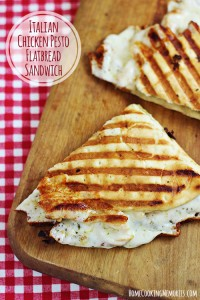 Italian Chicken Pesto Flatbread Sandwich