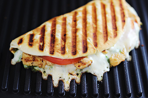 Italian Chicken Pesto Flatbread Sandwich
