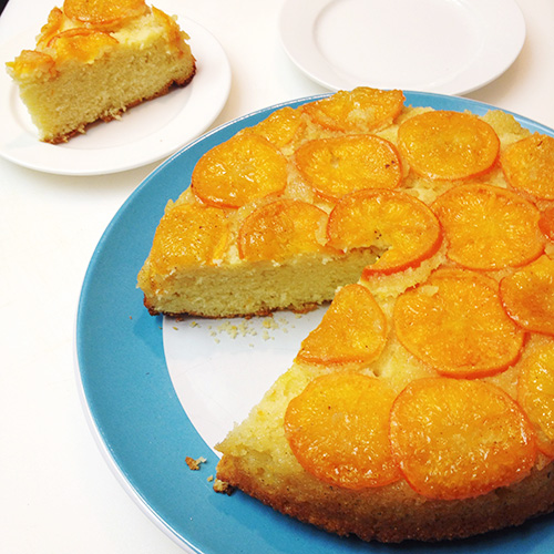 Mandarin Orange and Vanilla Upside-Down Cake