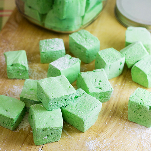 Mint Tea Marshmallows  #12Bloggers