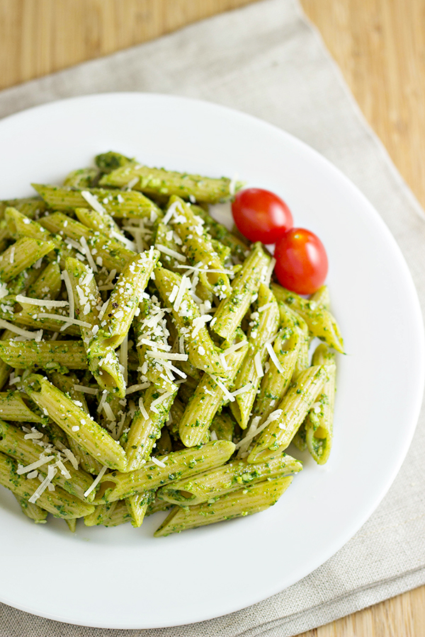 Pasta with Spinach Basil Pesto Recipe 2