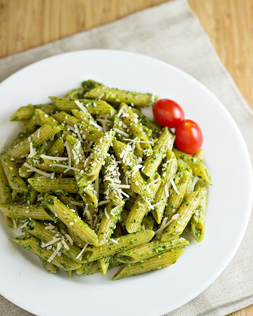 peas shrimp string beans and pasta with pesto sauce meyer lemon pesto ...