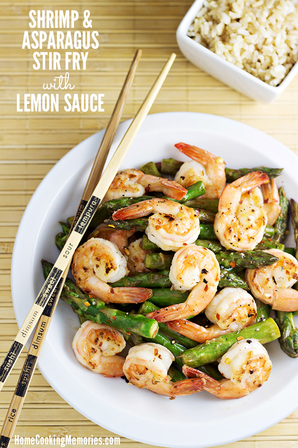 Shrimp and asparagus stir fry with lemon sauce recipe home cooking this quick and easy shrimp and asparagus stir fry with lemon sauce recipe is full of forumfinder