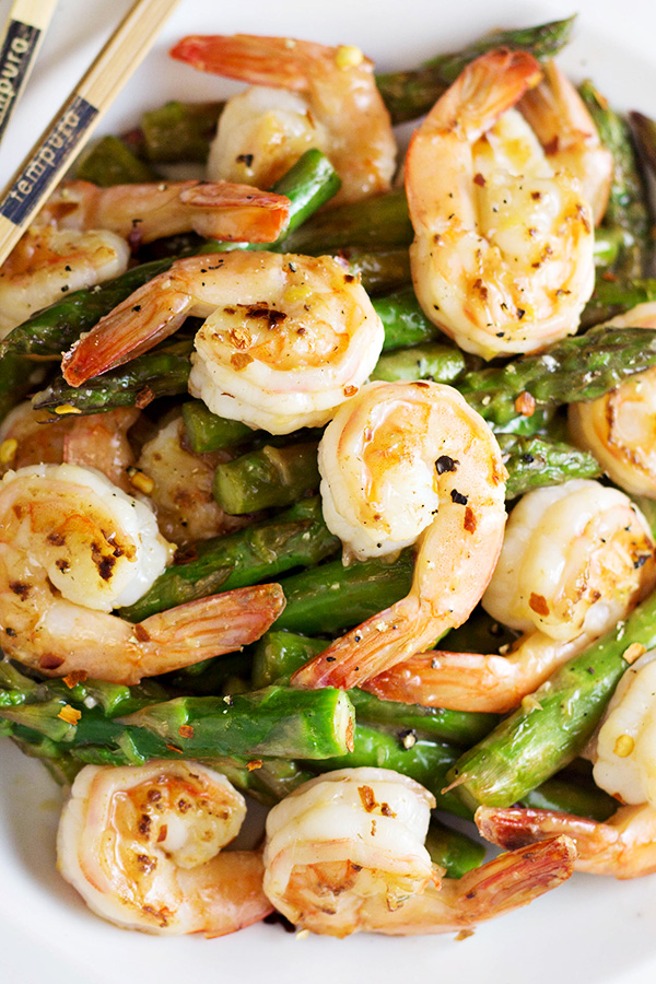 Shrimp And Asparagus Stir Fry With Lemon Sauce Recipe Home Cooking