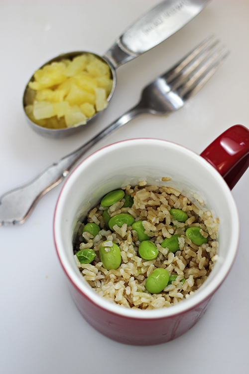 Brown Rice with Edamame and Pineapple 3