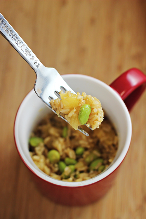 23 delicious microwaveable meal in a mug recipes pin brown rice with edamame and pineapple forumfinder Choice Image