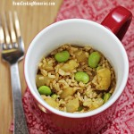 Brown Rice with Edamame and Pineapple (meals in a mug)