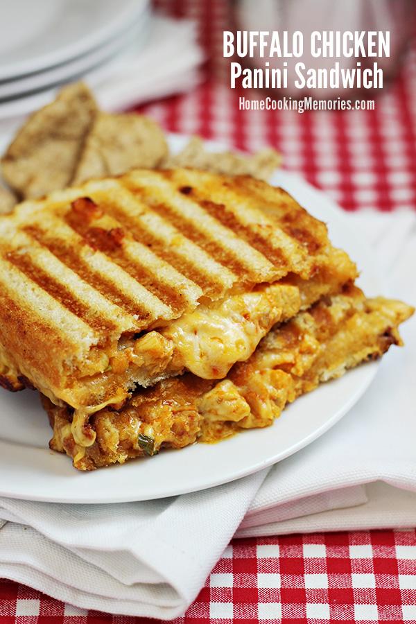 Buffalo Chicken Panini Sandwich Recipe - Home Cooking Memories