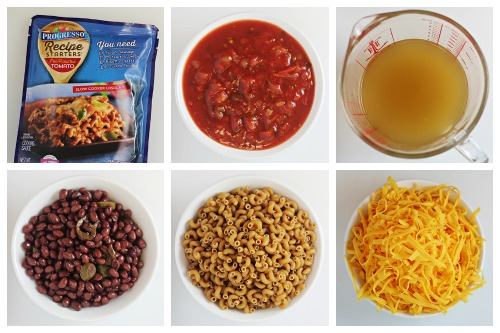 One-Pan Cheesy Salsa Pasta - Ingredients