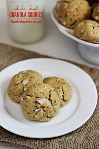 Whole Wheat Granola Cookies 5
