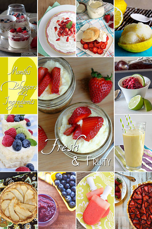 #12Bloggers Fresh & Fruity Recipe Collection