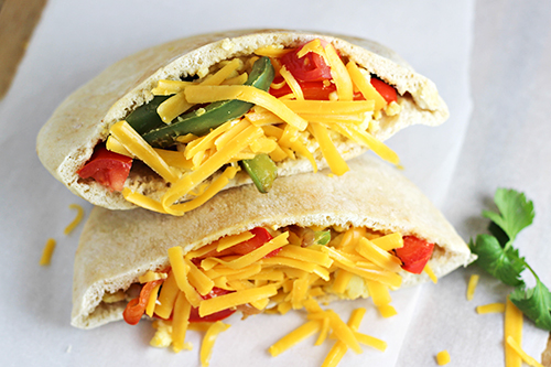 Breakfast Fajita Pitas