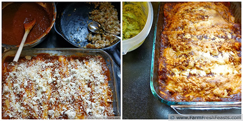 Confetti Turkey Enchiladas with Slow Roasted Tomato Sauce by Farm Fresh Feasts