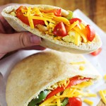 Easy Breakfast Fajita Pitas - an on-the-go breakfast idea that combines eggs with tex-mex flair!
