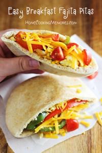 Easy Breakfast Fajita Pitas Recipe