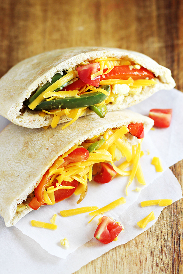 Easy Breakfast Fajita Pitas Recipe