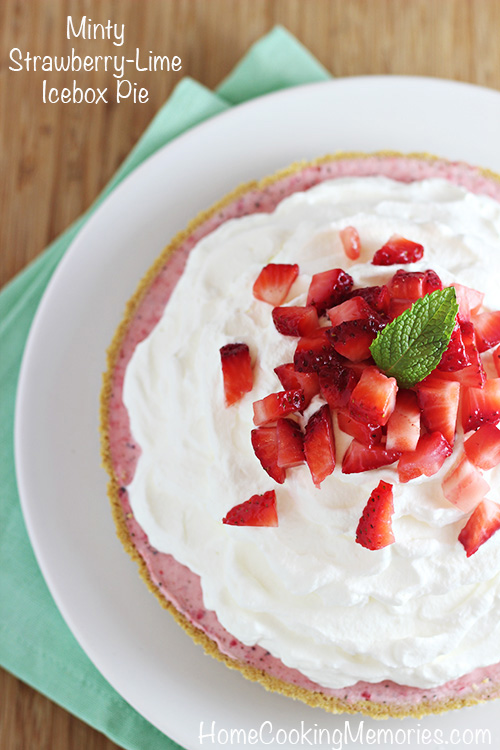 Keep cool with this Minty Strawberry-Lime Icebox Pie that is easy to ...