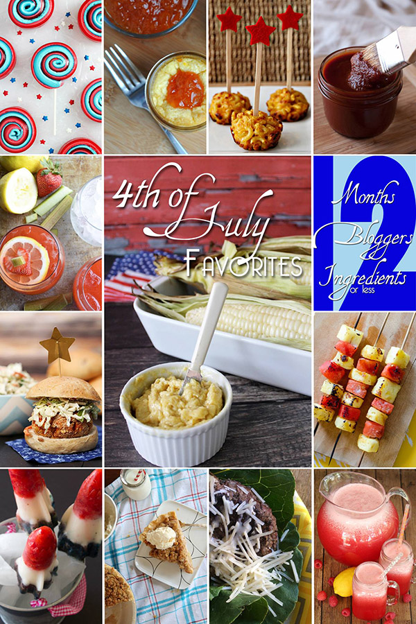 4th of July Favorites - Recipes from 12Bloggers