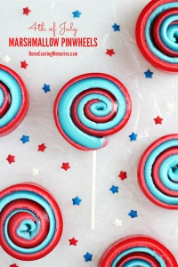 4th of July Marshmallow Pinwheels
