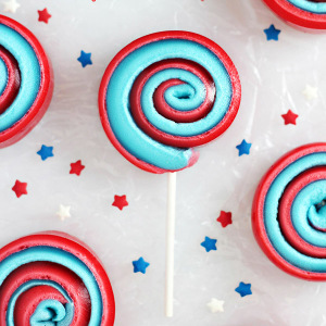 4th of July Marshmallow Pinwheels on a Stick