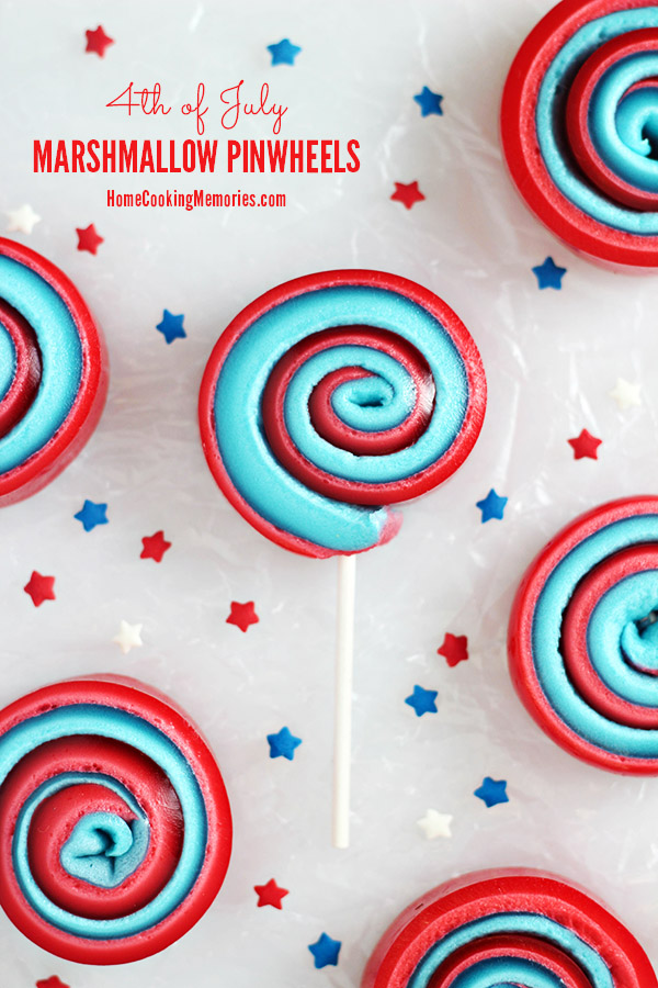 4th of July Marshmallow Pinwheels - a simple & festive sweet treat-on-a-stick that kids will love! #12Bloggers