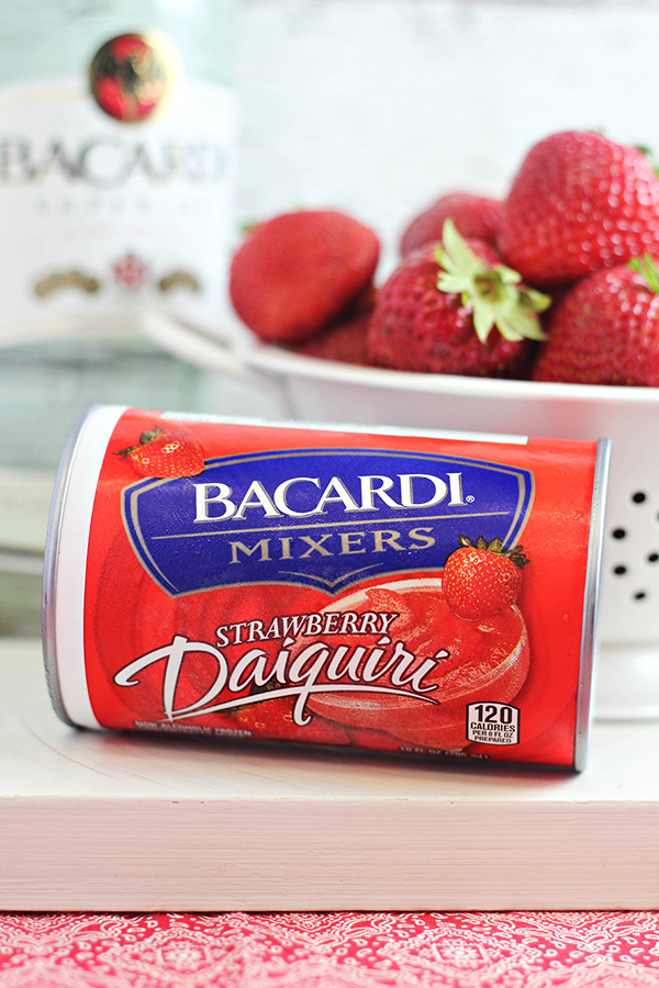 Summer Cocktail Recipe: Basil Berry Daiquiri, made with Bacardi Mixers