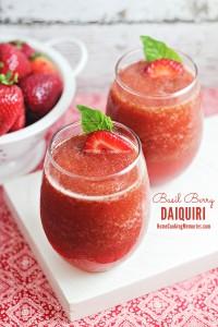 Summer Cocktail Recipe: Basil Berry Daiquiri