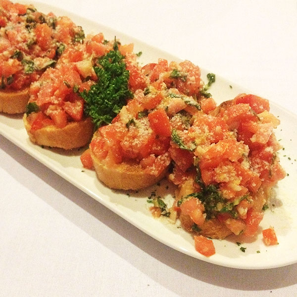 Bruschetta Appetizer at Emery's - Italian Restaurant in Henderson, NV