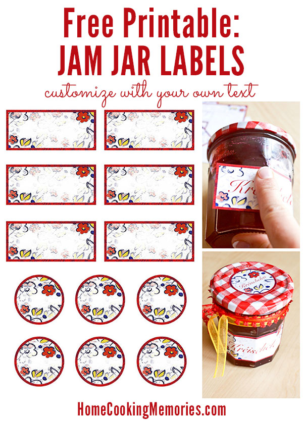 Free printable jar labels for home canning for How to print your own labels at home