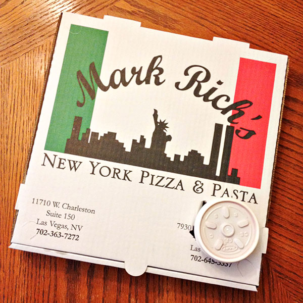 Las Vegas Restaurant: Mark Rich's New York Pizza & Pasta