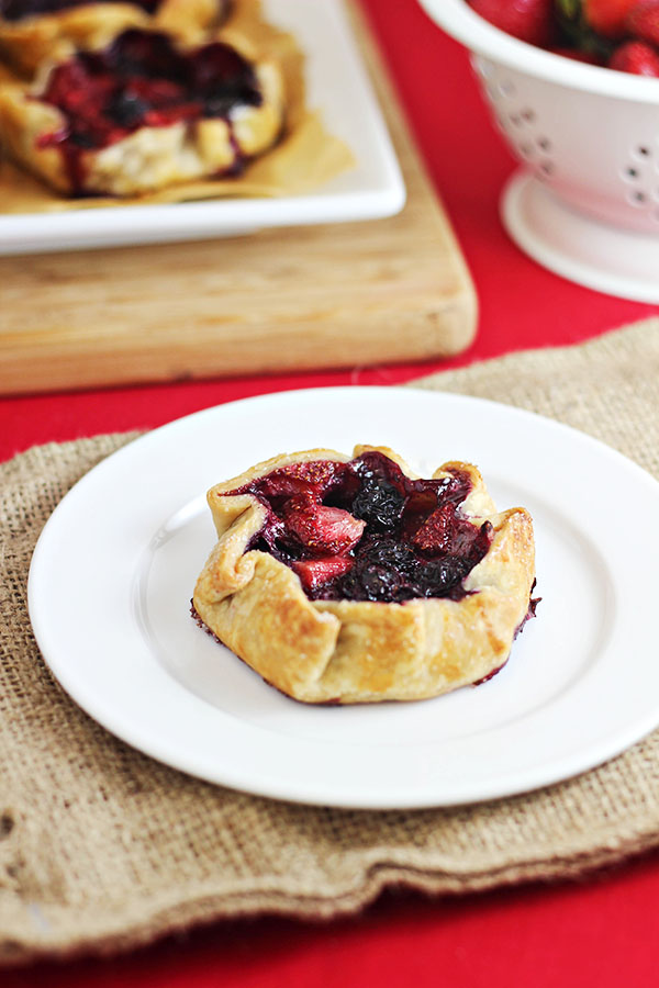 Mini Summer Berry Galettes - an easy summer dessert that's sure to impress!