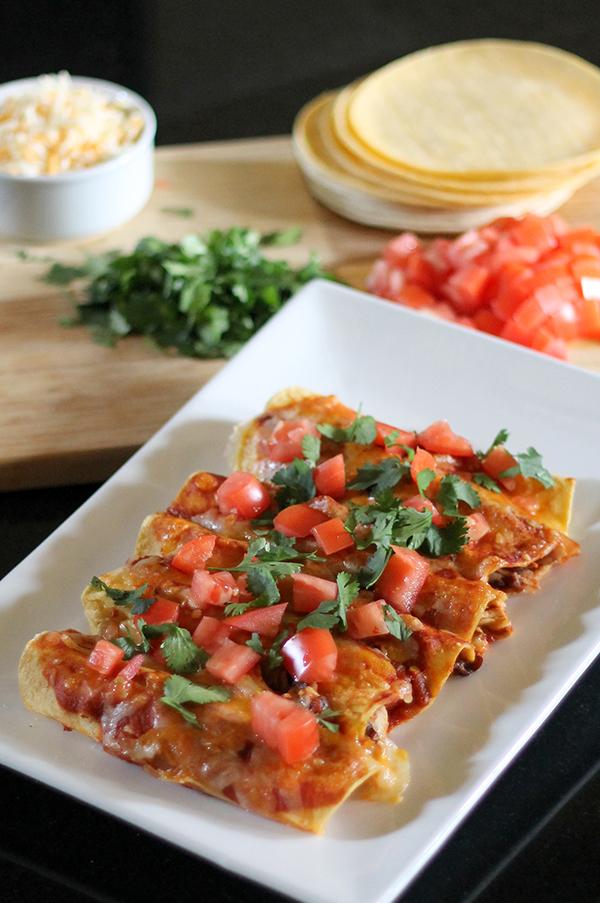 Quick and Healthy Chicken Enchiladas 3