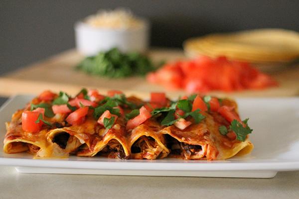 Quick and Healthy Chicken Enchiladas 5