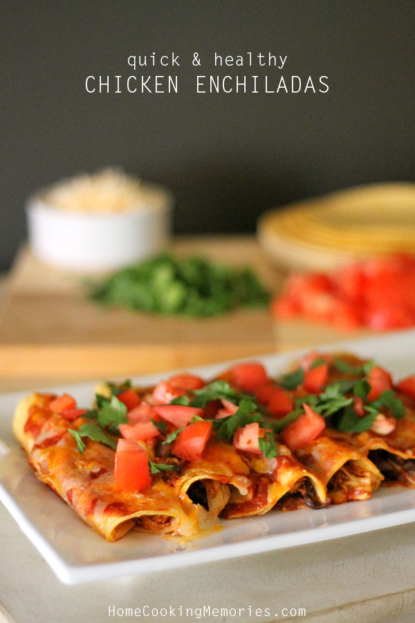 Quick and Healthy Chicken Enchiladas