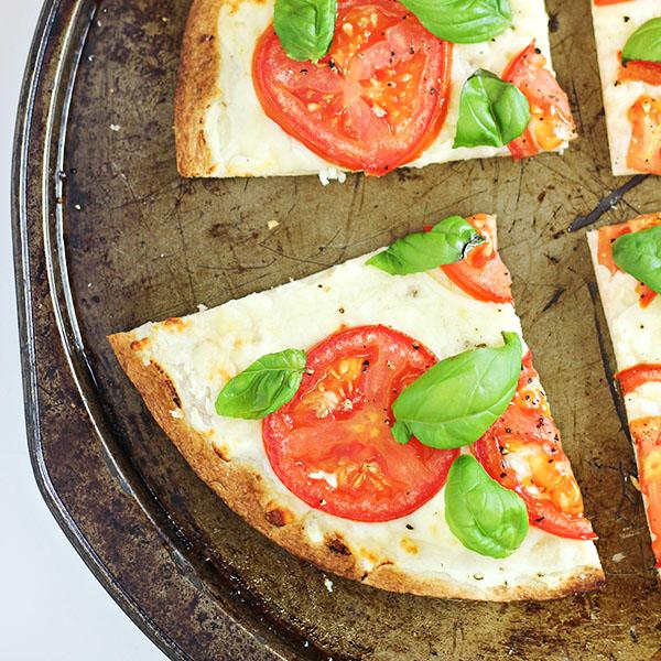 Caprese Tortilla Pizza