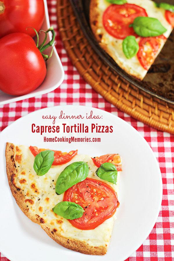 Easy Dinner Idea: Caprese Tortilla Pizzas #WalmartProduce