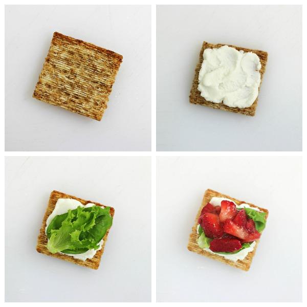How to Make Strawberry Ricotta Bites #TriscuitSnackoff
