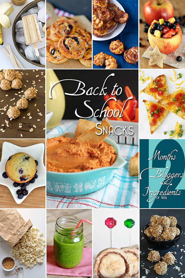 Back to School Snacks - 12 Bloggers