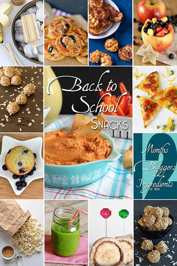 Back to School Snacks - 12 Bloggers