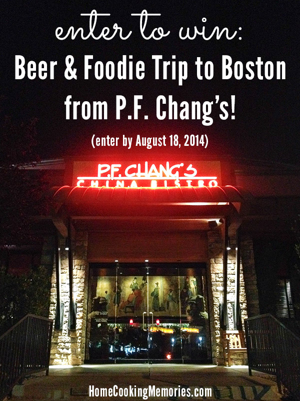 Enter to Win a Foodie Trip to Boston from P.F. Chang's
