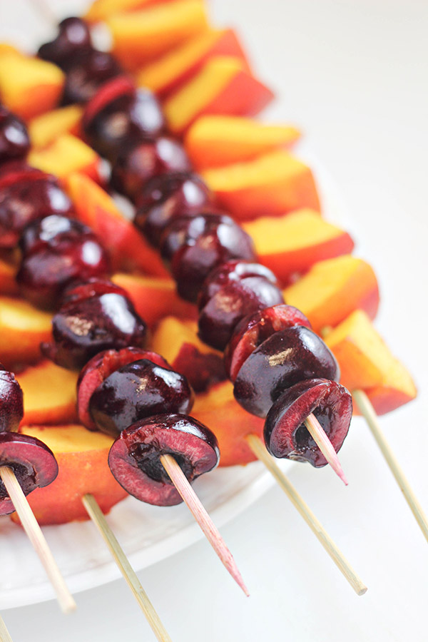 Peach and Cherry Skewers