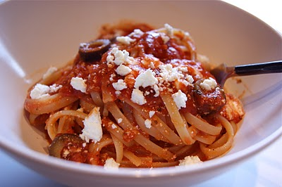 Pasta with Olives and Feta by Seasonal & Savory
