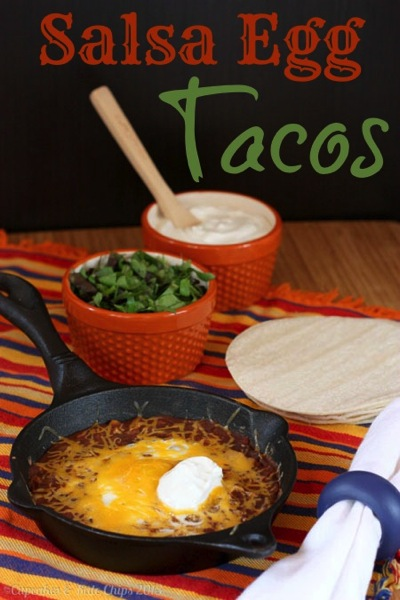 Salsa Egg Tacos by Cupcakes & Kale Chips