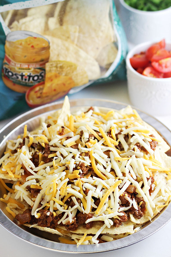 Sloppy Joes Nachos with Tostitos Tortilla Chips-g