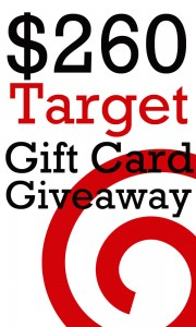 $260 Target Gift Card GIVEAWAY! (enter by 10/3)