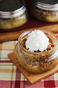 Apple Crumble in a Jar Recipe