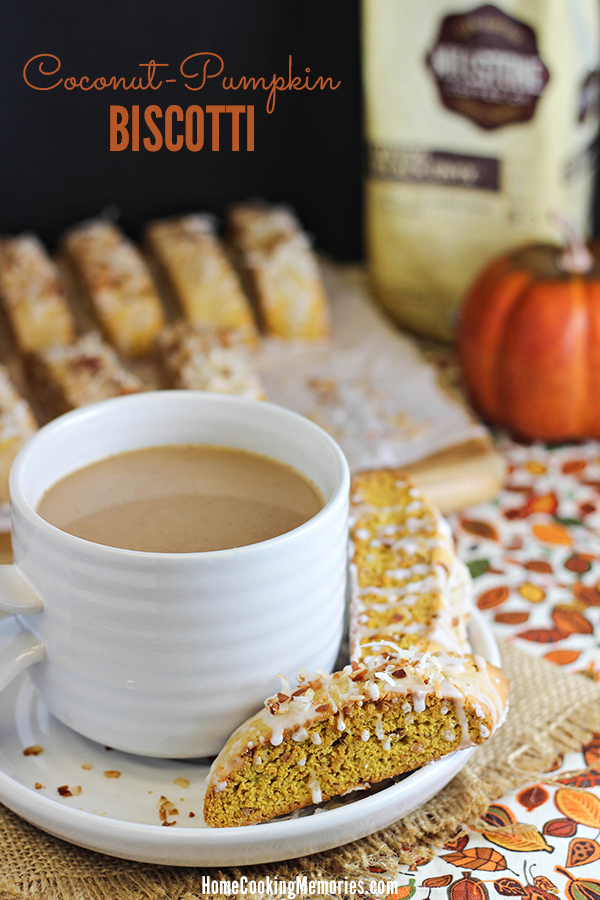 Coconut-Pumpkin Biscotti Recipe - the best of both worlds in a crispy cookie that's perfect to pair with coffee #MillstoneCoffee