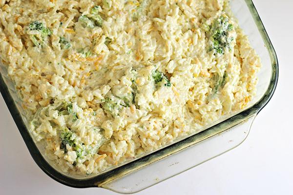 Easy Broccoli Rice Casserole Recipe - Home Cooking Memories-3439