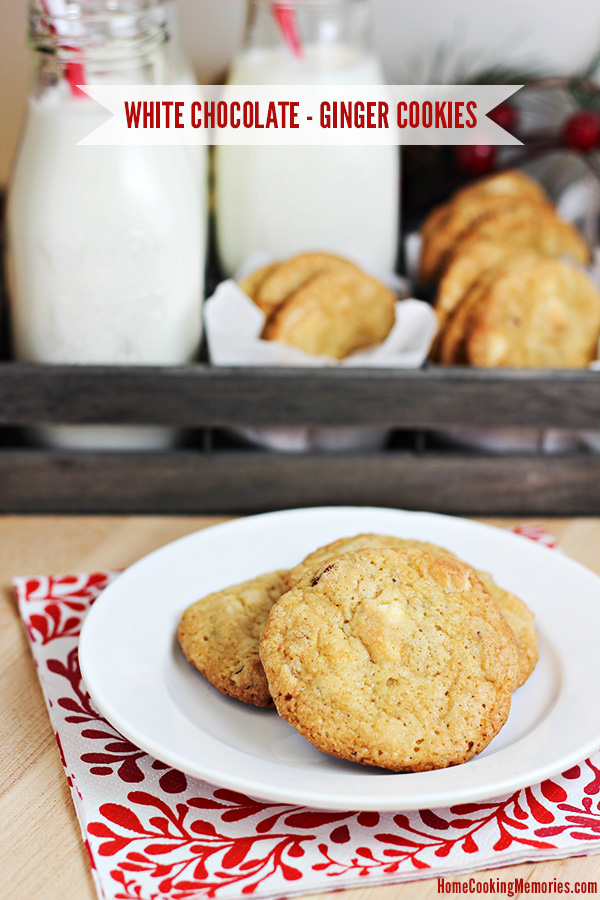 White Chocolate & Ginger Chip Cookies Recipe - Home ...